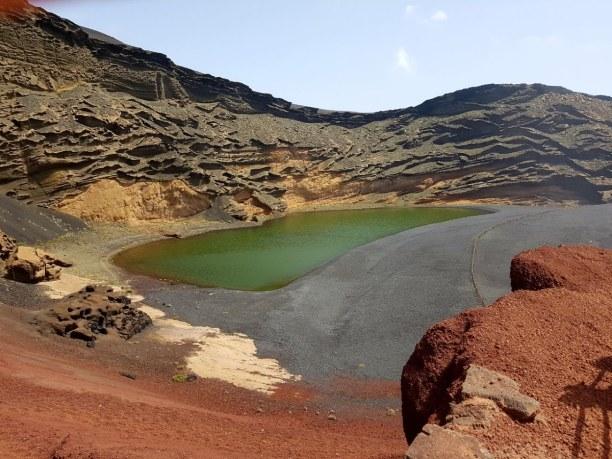1 Woche Lanzarote, Spanien, Der grüne Vulkankratersee beim Küstenort El Golfo