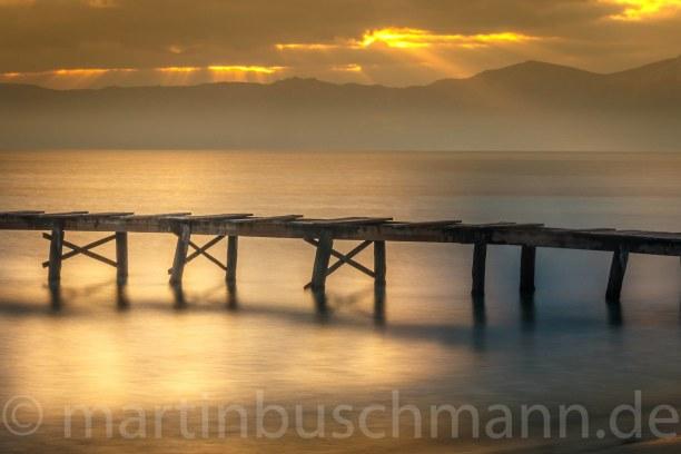 Eine Woche Mallorca, Spanien, The dock into the water - North East Mallorca