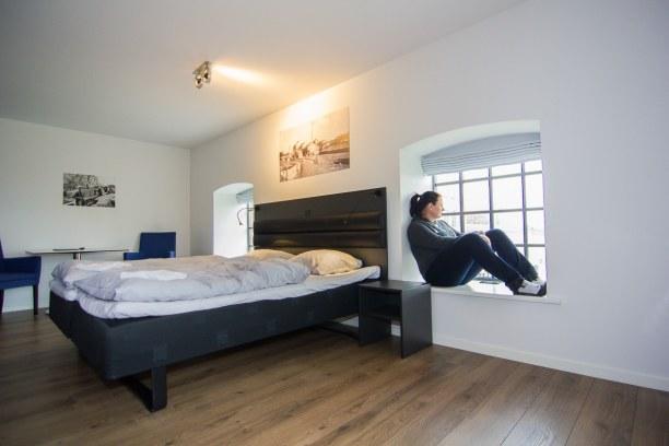 Kurzurlaub Holeby (Stadt), Storstrøm, Dänemark, Nach dem Bridgewalking Abenteuer haben wir uns in unserem Zimmer entsp