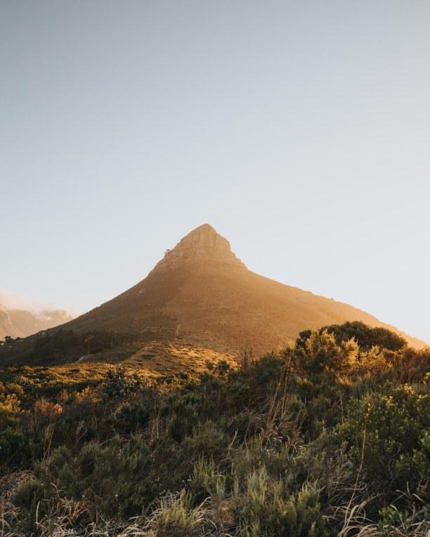 Zwei Wochen Südküste, Südafrika, Der Lion´s Head wird auf deutsch Löwenberg genannt. Er bietet dir, d