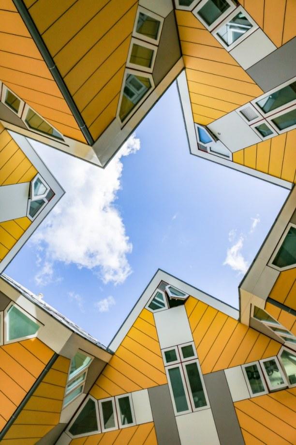 Kurztrip Rotterdam (Stadt), Südholland, Niederlande, Die Kubushäuser sind ein echter Hingucker. Wer mag, kann sogar eines