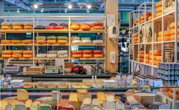 Kurztrip Rotterdam (Stadt), Südholland, Niederlande, Was wäre ein Marktbesuch in Holland ohne Käse? Hier in den verschied