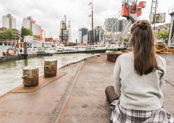 Kurzurlaub Rotterdam (Stadt), Südholland, Niederlande, Rotterdam hat ein großartiges Maritimes Museum, in dem man selbst gan
