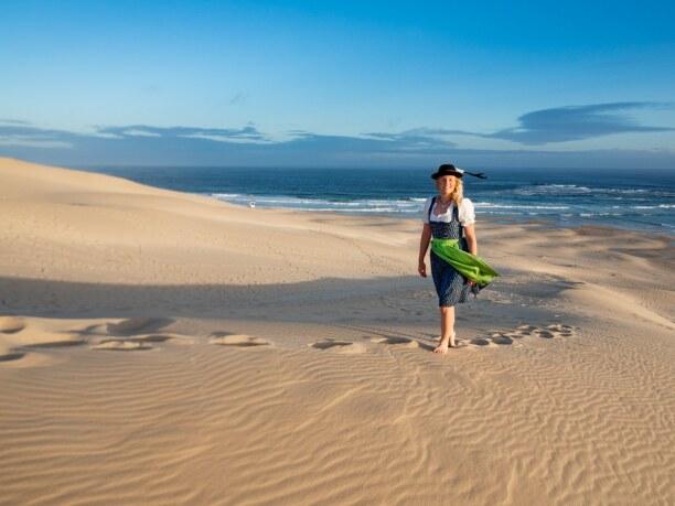 Langzeiturlaub Port Elizabeth (Stadt), Südküste, Südafrika, Der Strand Sardinia Bay ist besonders bei Sonnenuntergang beeindrucken