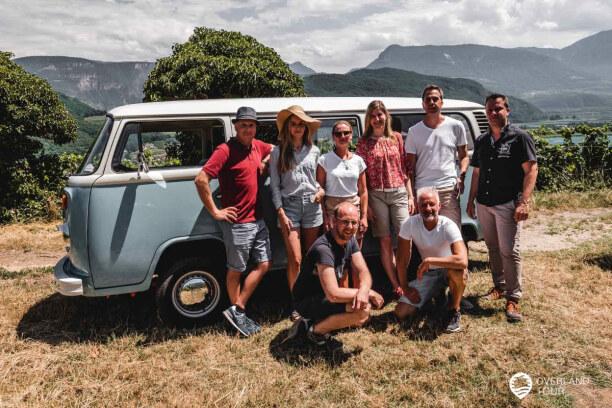 Kurztrip Meran (Stadt), Trentino-Südtirol, Italien, Unsere geniale Truppe, die mit den Classic Cars auf der T2 VW-Bulli We