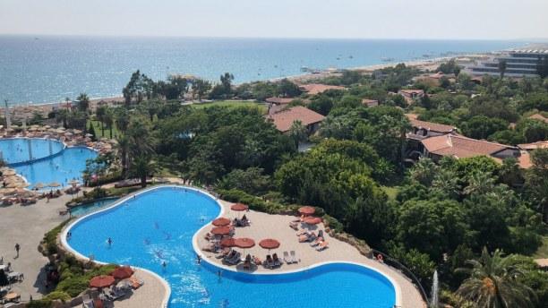 Zwei Wochen Türkische Riviera, Türkei, Ausblick vom Balkon