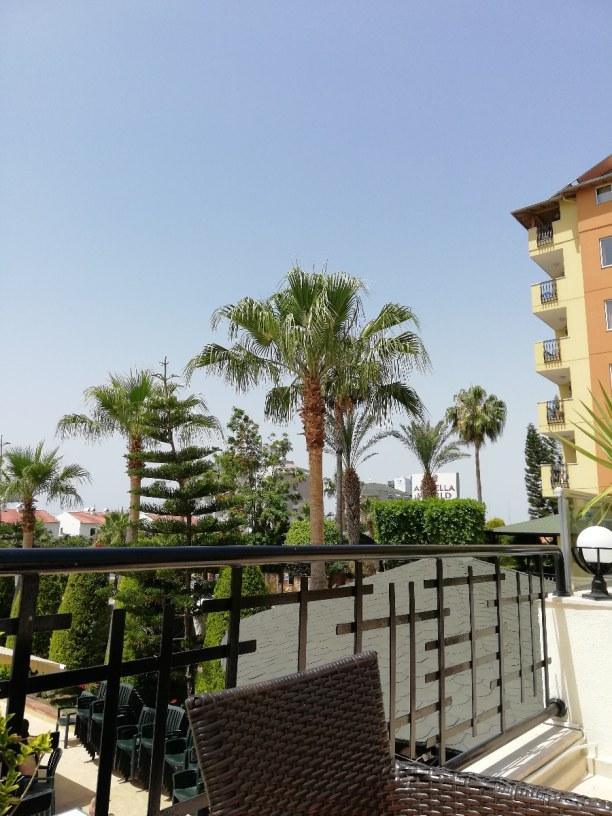 Eine Woche Alanya (Stadt), Türkische Riviera, Türkei, Ausblick vom Speisesaal im Restaurant