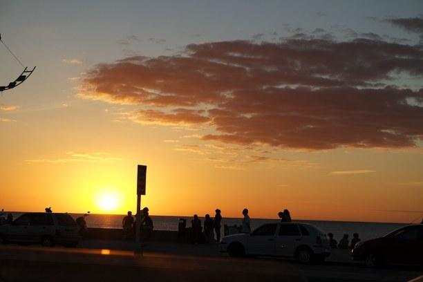Langzeiturlaub Montevideo (Stadt), Uruguay, Uruguay, Ein wunderschöner Sonnenuntergang über dem Rio de la Plata.
