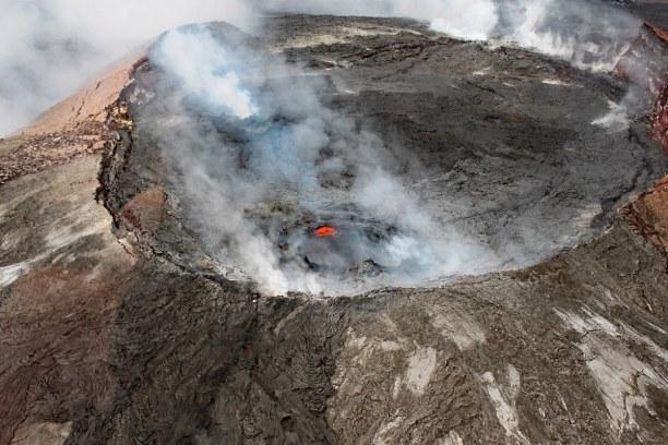 Eine Woche Hawaii, USA, Der Kilauea ist der aktivste Vulkan auf der Erde. Zuletzt ist er im Ma