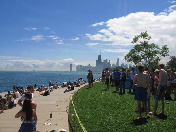 Kurztrip Illinois, USA, Die Seepromenade bietet direkten Zugan zum Michigansee. Hier kannst du