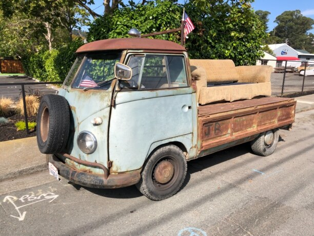 10 Tage Kalifornien, USA, freak bus at Sausalito