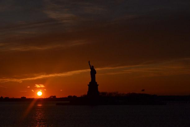 10 Tage New York, USA, Sonnenuntergang mit Freiheitsstatue!