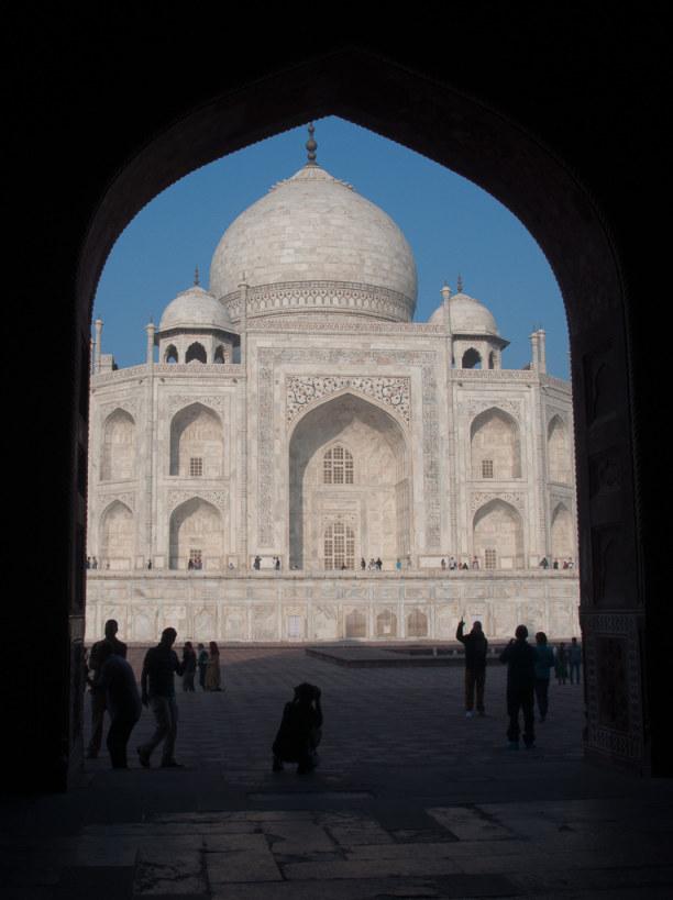 Kurztrip Agra (Stadt), Uttar Pradesh, Indien, Es ist beeindruckend den Taj Mahal von unterschiedlichen Perspektiven