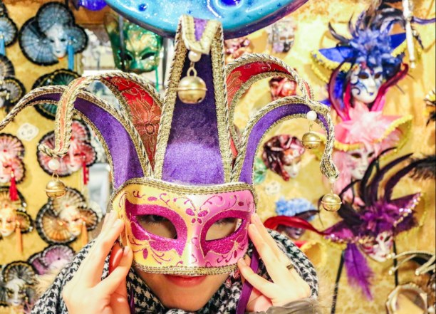 Kurzurlaub Venedig (Stadt), Venetien, Italien, Masken sind sicher das typischste Souvenir von Venedig. Und ja, auch i