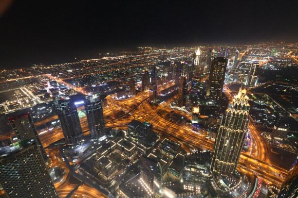 Kurztrip Dubai (Stadt), Dubai, Vereinigte Arabische Emirate, Der Blick von oben.