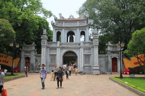 1 Woche Hanoi (Stadt), Vietnam, Vietnam, Eingang zum Literaturtempel