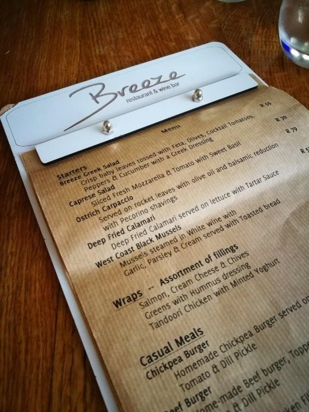 """Kurztrip Langebaan (Stadt), Westküste, Südafrika, Abendessen im Restaurant """"Breeze"""" im Windtown Lagoon Hotel."""
