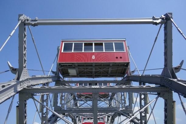 Kurzurlaub Wien (Stadt), Wien und Umgebung, Österreich, Für Personen mit Höhenangst ist die Fahrt mit dem Riesenrad eine Her