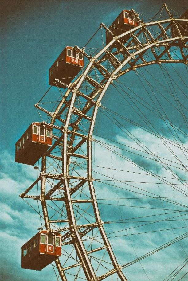 Kurztrip Wien (Stadt), Wien und Umgebung, Österreich, Das Riesenrad ist ein Wahrzeichen Wiens. Es steht im Prater und wurde